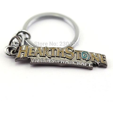 Hearthstone Heroes of Warcraft Logo Keychains