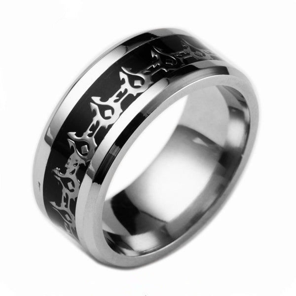World of Warcraft Horde Banner 316L Stainless Titanium Steel Unisex Vintage Ring