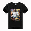 GRAND THEFT AUTO V GTA T-shirt  Breathable quick-drying top Y15 Fashion Brand t shirt men new high quality