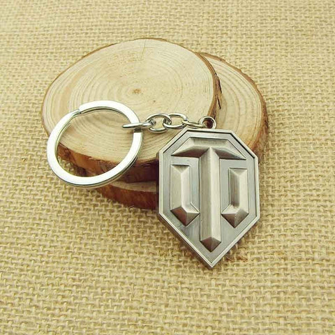 Fashion Game World of Tanks Bullet KeyChain 4.7cm pendent keyring gift key ring chain holder for car - GamerGift