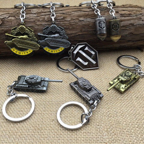 High Quality World of Tanks Logo Keychain - loveit-shop