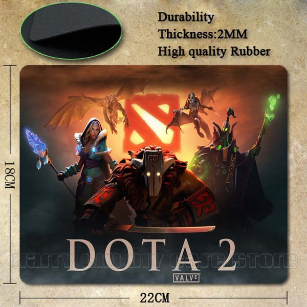 Dota 2 Design Natural Silicon Mouse Pad