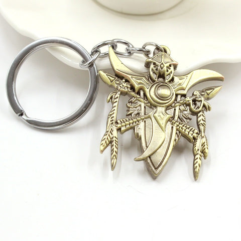 World Of Warcraft Keychain WOW Symbol Keychains 3D Game Jewelry