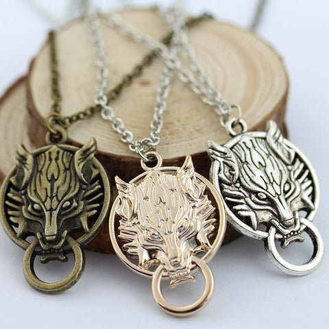 Final Fantasy VII 7 Cloud Wolf Pendant Necklace - loveit-shop