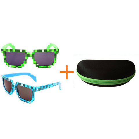 Minecraft Action figure toys creeper pixel glasses