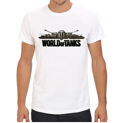 World Of Tanks printing Men T shirts  Tops Tees