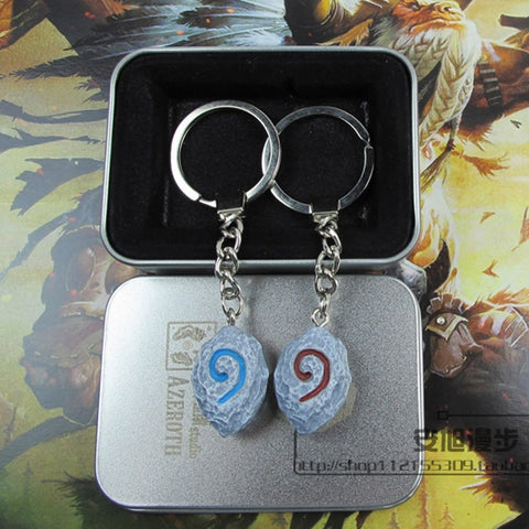 Hearthstone Stone Keychain Metal Box Package - loveit-shop