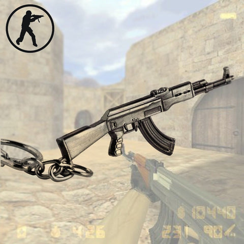 CS GO AK47 M16 Gun Keychain Men Trinket - GamerGift