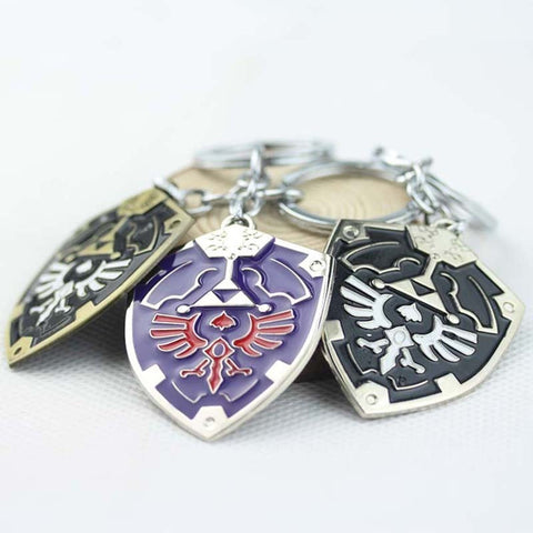 The legend of zelda keychain 5.5 cm metal shield