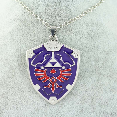 The legend of Zelda necklace Jewelry anime game Alloy sword shield Pendant Necklace