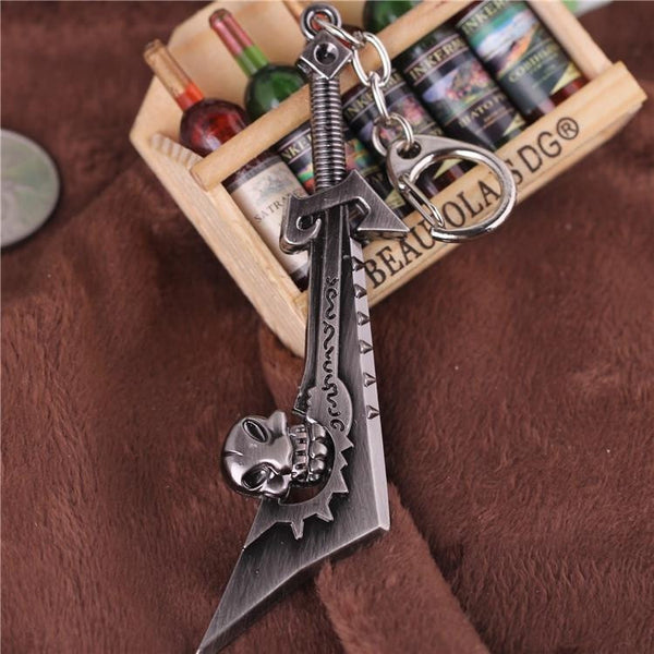 World of Warcraft Skull Sword Corrupted Ashbringer Kido Machetes Model Keychain