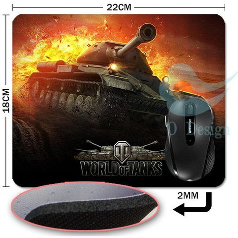 World of tanks gaming mouse pad gamer play mats