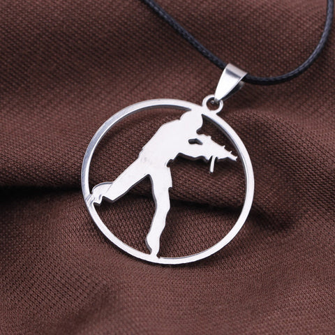 CS GO Stainless Steel Link Necklace For Men - GamerGift