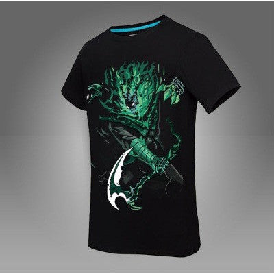 summer style LOL Thresh print men t-shirts