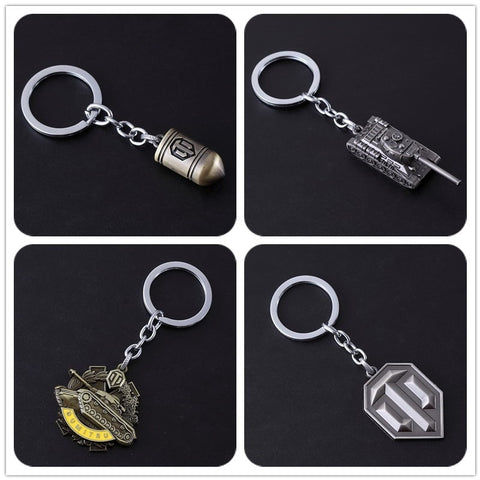 World of Tanks WOT Silver coppery All Metal Key chain
