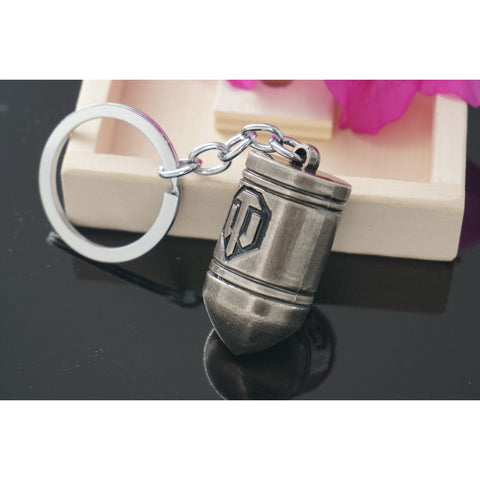 World of Tanks Key Chain Porte Clef Metal Keyring