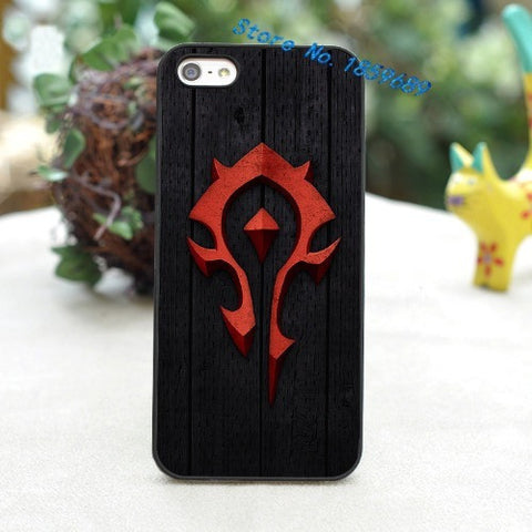 World of Warcraft horde logo fashion cover case for iphone