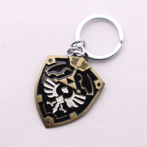 The Legend of Zelda Shield Metal Keychain Pendant