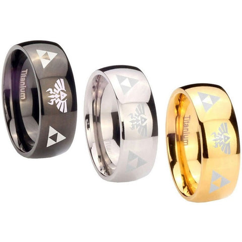 The Legend of Zelda titanium steel Link rings ring 3 colors