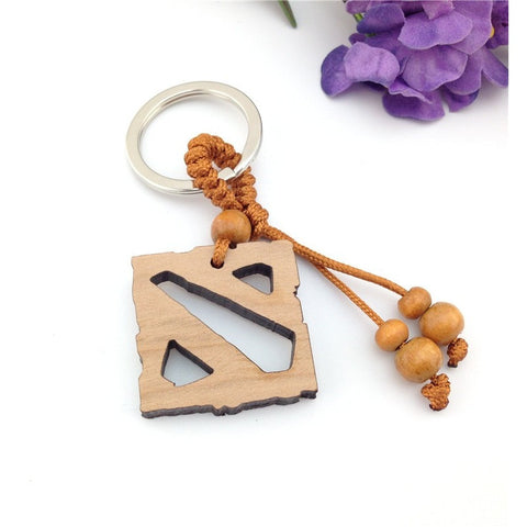 wood key chain Dota 2 pendant keychain