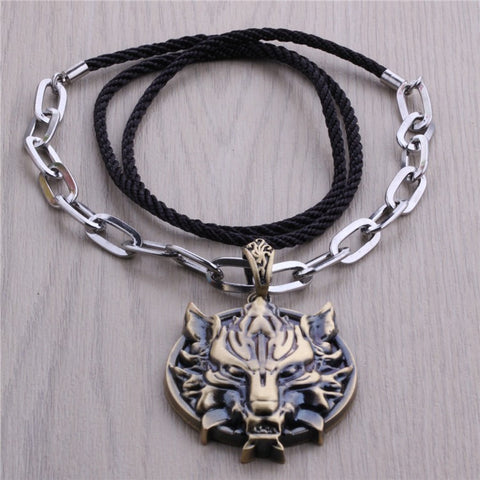 Final Fantasy 7 Vii FF Cool Wolf Head Animation Necklace - GamerGift.net