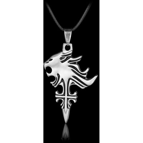 Final Fantasy VIII  Necklace Sleeping Lion Heart Squall Pendant Necklace - GamerGift.net