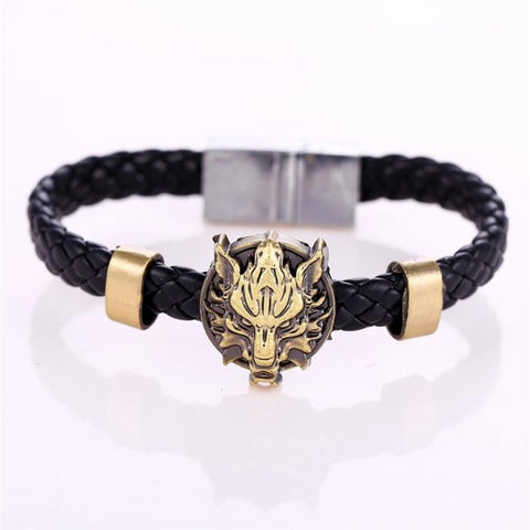 Final Fantasy Alloy Bracelets Weave leather bracelet - loveit-shop
