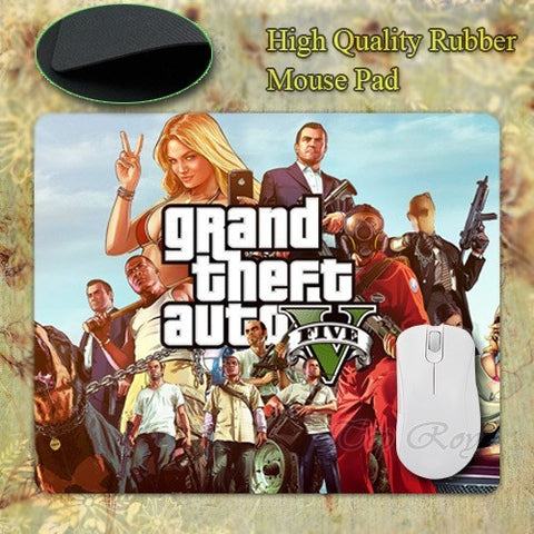 Grand Theft Auto Auto Rockstar Games Rubber Mouse Mat - GamerGift.net