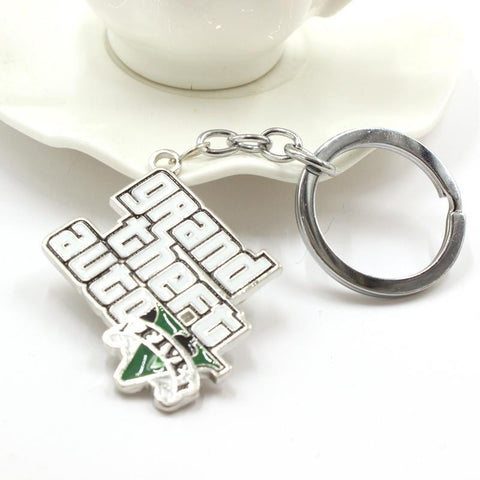 Grand Theft Auto V Logo Key Chain Letter Jewelry - loveit-shop