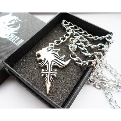 FINAL FANTASY  SLEEPING LION Heart SQUALL GRIEVER PENDANT NECKLACE - loveit-shop