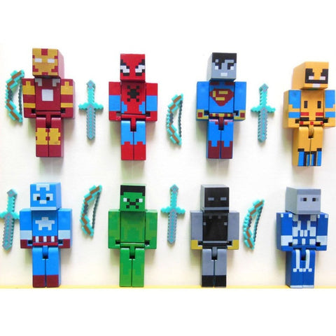 Minecraft Superhero building block Toy set 24pcs