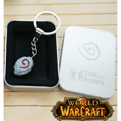 (HOT!) Hearthstone Keychain With Metal Box Luminous Pendant