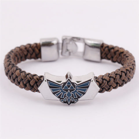 (HOT!) The Legend Of Zelda Hand Leather Weave Alloy bracelet - GamerGift
