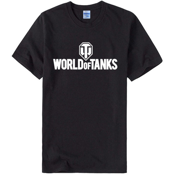 World of Tanks Print Men T-shirts Cotton O-Neck