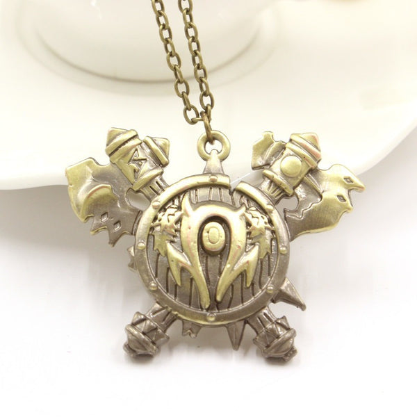 World Of Warcraft Orcish Horde Pendant Necklace