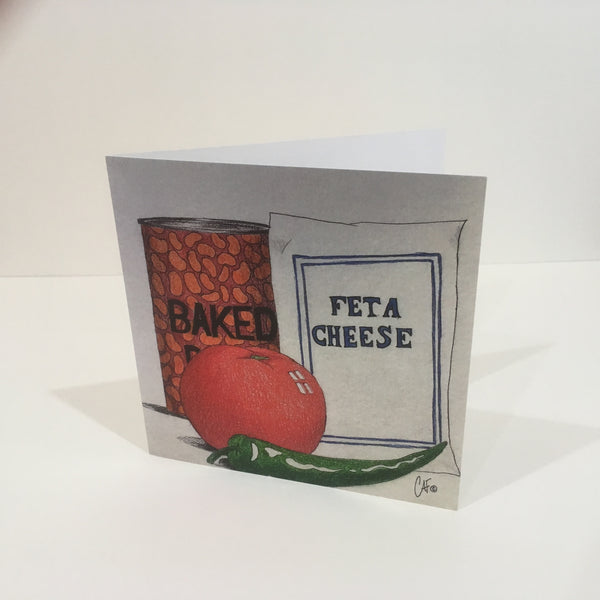 Baked Feta Greeting Card