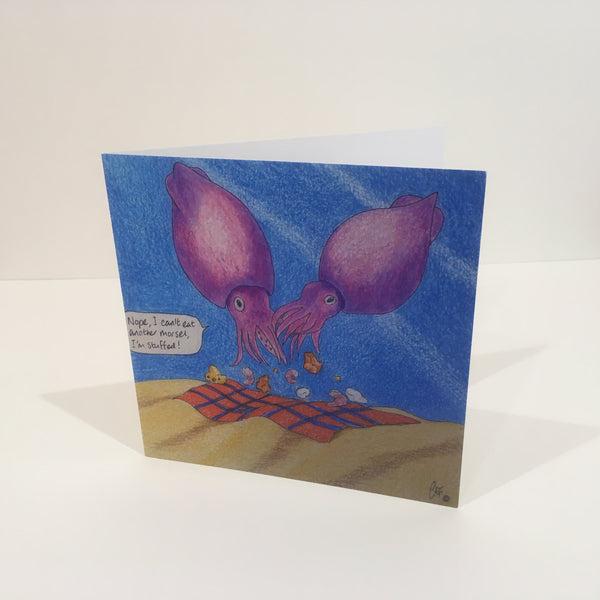 Kalamari Gemesto, stuffed squid Greeting Card