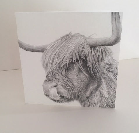 Rude MacDude- Highland Cattle Greetings Card