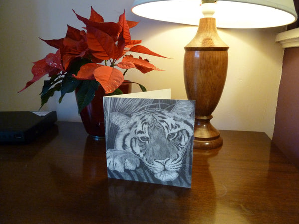 Stripe- Tiger Cub Greetings Card