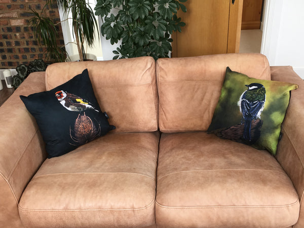 Great Tit cushion
