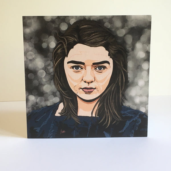 Game of Thrones Arya Stark Greetings card