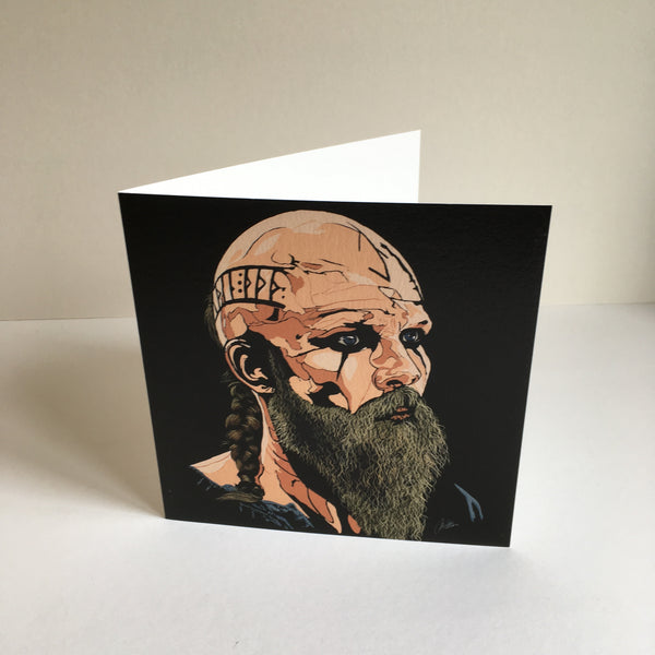 Vikings Floki Greetings card