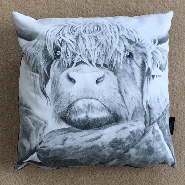 Nosey cow cushion
