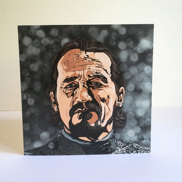 Game of Thrones Ser Bronn Greetings card