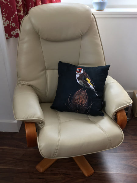 Goldfinch cushion