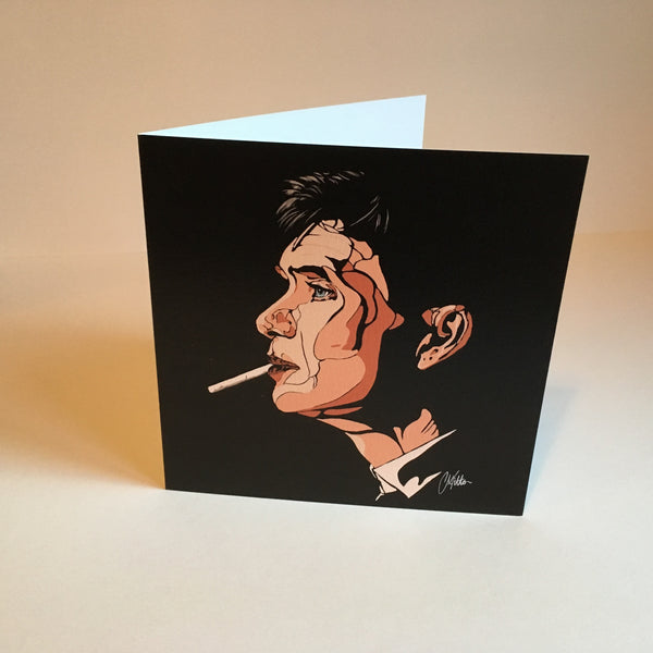 Tommy Shelby Greetings Card Art Deco style