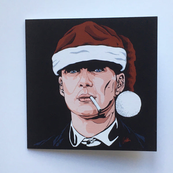 Festive edition Tommy Shelby III Greetings Card