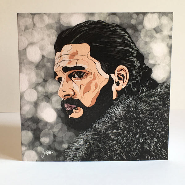 Game of Thrones Jon Snow Greetings card
