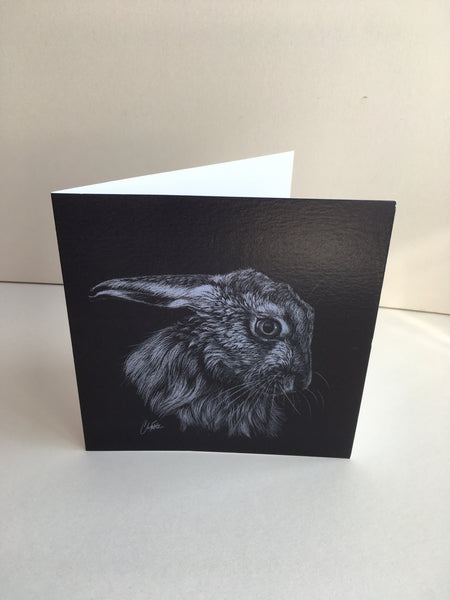 Shy Guy - Hare greeting card