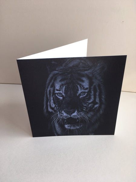 Look into my eyes - Tiger card